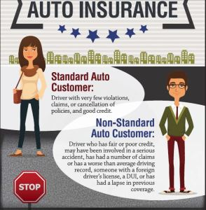 Learn the difference between standard and non standard-high risk auto insurance companies (707) 563-6731.